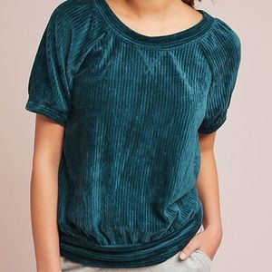 Anthropologie Saturday Sunday Ribbed Velvet Top